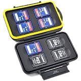 Kaavie - boîtier pour carte mémoire (résistant à l'eau) pour - Secure Digital/SDHC/SDXC x 8