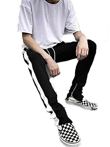cf867e4aa38ae Outgobuy Hombre Casual Hip Hop Jogger Pants Running Sports Track Pants (S