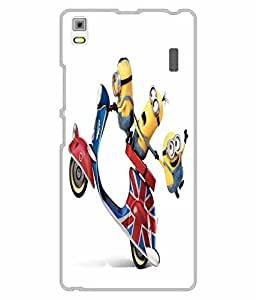 Snazzy Minions Printed Yellow Hard Back Cover For Lenovo A7000/K3 Note