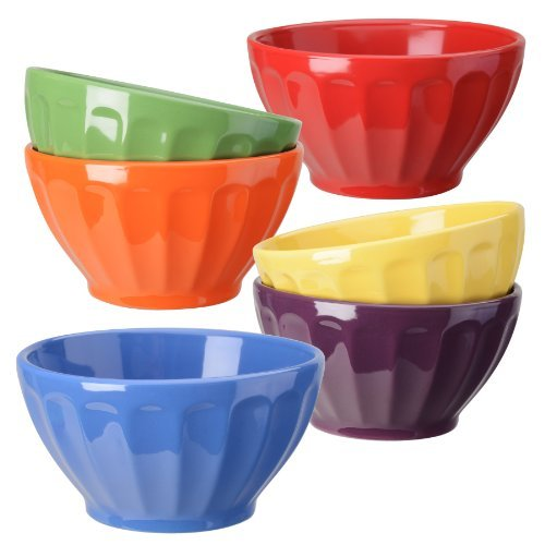 Signature Housewares Fluted Bowls, Assorted, Set of 6 by Signature Housewares - Signature Fluted