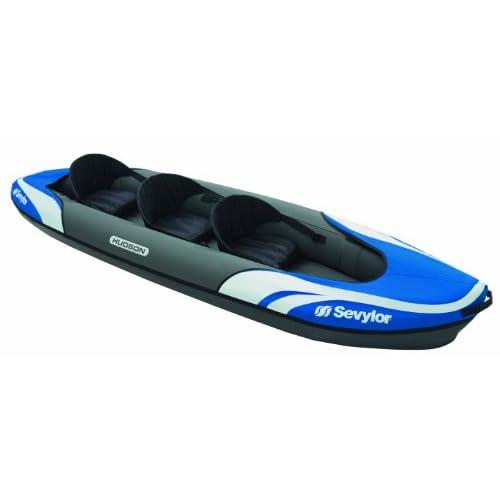 41YjyA6 rdL. SS500  - Sevylor Inflatable Kayak Hudson, 2+1 man Canadian Canoe, Sea Kayak, 374 x 89 cm