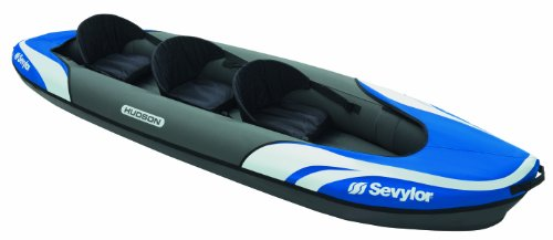 Sevylor Hudson Inflatable Kayak, Three Person – Blue