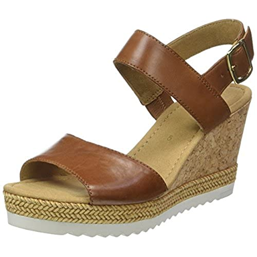Gabor Shoes Women's Fashion Wedge Heels Sandals, Brown (Peanut 22), 5 UK
