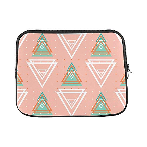 ASKSWF bolsa de ordenador portátil Design Custom Abstract Geometric Triangle Sleeve Soft Laptop Case Bag Pouch Skin for Air 15inch(2 Sides)