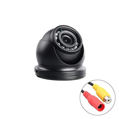 SKKMALL AHD Indoor-Metall-Mini-Schwarz-Dome-Kamera, Farbe-IR-Nachtsicht-Auto-Frontkamera für LKW-Bus-Mobile-DVR, 12V (Edition : AHD 1.0MP, Interface : AV-3.6mm) -