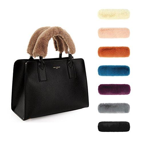 Sassy Pippi Kunstpelz Tasche Griffabdeckung, Bag handle cover (Grey)