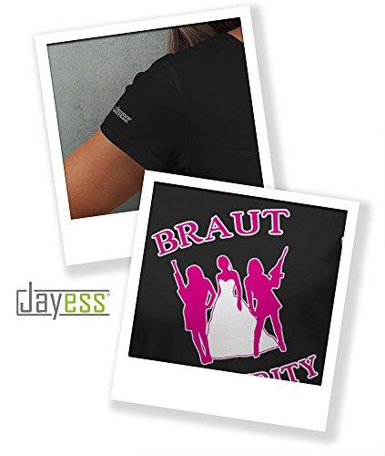 BRAUT SECURITY - WOMEN T-SHIRT by Jayess Gr. XS bis XXL Schwarz