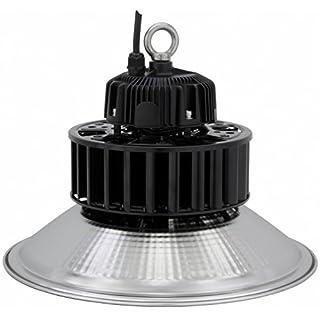 AdLuminis LED Hallenstrahler, 60W 100W 150W 200W, Kunststoff oder Aluminium Reflektor, Energieklasse A++, bis 50000 Betriebsstunden, Premium Hallen- und Industriebeleuchtung (100w Aluminium)