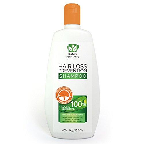 Anti-Haarausfall Shampoo von Kates Naturals - 100% natürliche Zutaten - 400ml - Schnelle und effektive Ergebnisse mit Arganöl, Jojobaöl, Rosmaryöl, Nessel Extrakt und vieles mehr