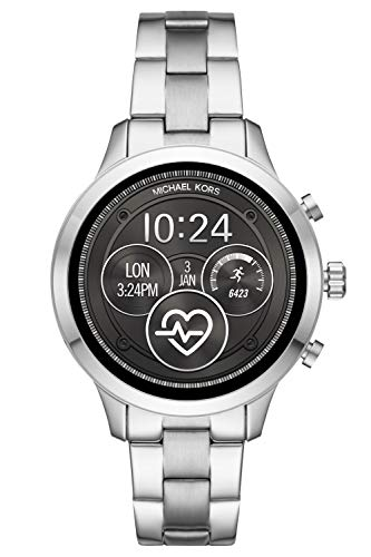 Michael Kors Damen Digital Smart Watch Armbanduhr mit Edelstahl Armband MKT5044