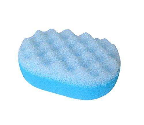 * Badeschwamm Schwamm Massageschwamm in oval aus mehreren farben wählbar (hellblau)