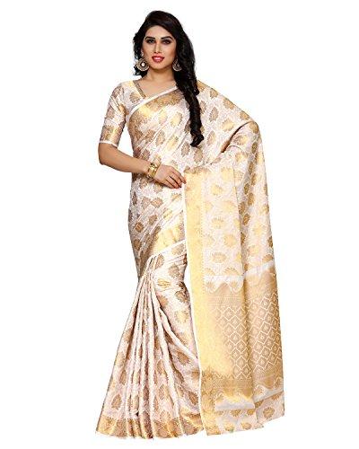 Mimosa By Kupinda Women's Art Silk Saree Kanchipuram Style (Latest Designer Sarees...