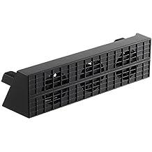 LESHP Ventilador de Refrigeración Súper Refrigerador Ventilador PS4 Turbo de Calor Exhauster para la Consola de Juegos PS4-Slim [Playstation 4]-Negro