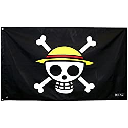 Bandera pirata con calavera de One Piece, 70 x 120 cm.