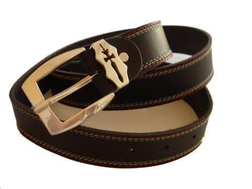 cbb5d4f4cdc8 Exclusiv boucle de ceinture argenté 2 pièces style italo bracelet en cuir  fait à la main