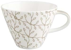 Villeroy & Boch Caffe Club Floral Caramel 0.39 Litre Coffee Cup, White