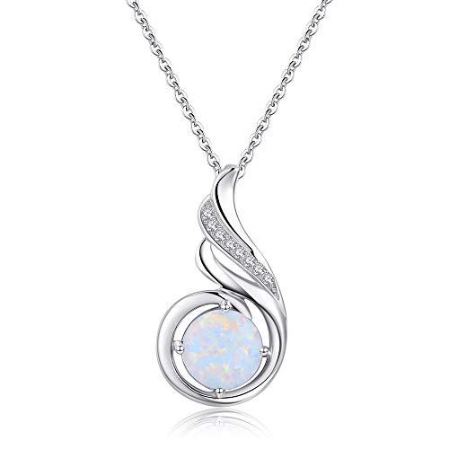 Kostüm Schmuck Silber Halskette - Sterling Silber phönix halskette Opal Schmuck