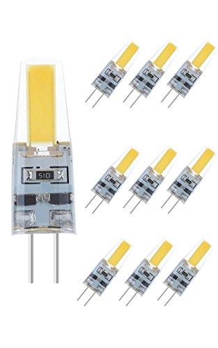 NuLoXx 10er Pack LED G4 COB 2W/840 4000K neutralweiß 180LM DC-12V, 360° Abstrahlwinkel - Faktoren, 90 Kapseln