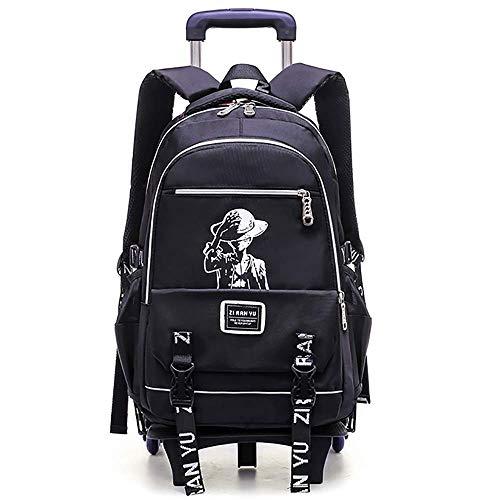 36c4321989 HCC& Ragazzi Zaino Rotolante Alta capacità Salire Le Scale Trolley  Schoolbag Ultraleggero Impermeabile Zaino della Scuola