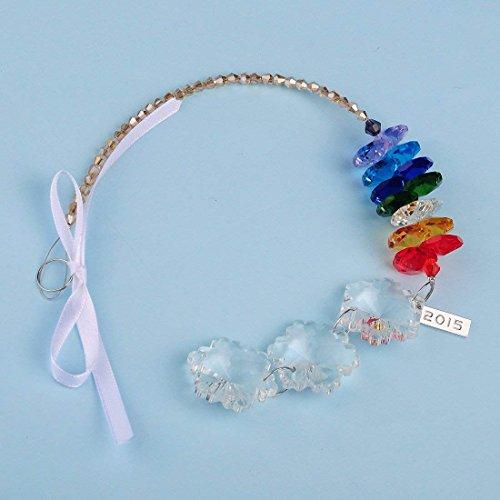 H&D Kristall Chakra Sonnenfänger Lüster Teil mit Schneeflocken Ornamente,Glas Leuchter Anhänger (Schneeflocke Glas Ornamente)