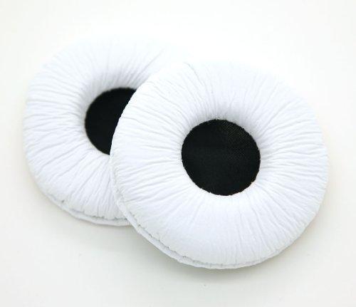 Jntworld Oval/Runder Ohrpolster für professionelle Overhead faltbare Kopfhrer Ohrpolster(70mm weiß)