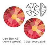 Swarovski Kristalle Light Siam Ab (227 Ab) Strass Strasssteine Nail Art - Small Pack - 1.8Mm (Ss5) 60 Stuck