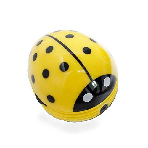 WANGGANG Desktop-Vakuum-Käfer Ladybug-Schreibtisch Staubsauger Mini-Tisch Staub Vaccum Reiniger-10 * 8,2 cm,Yellow (Schreibtisch Staub-reiniger)