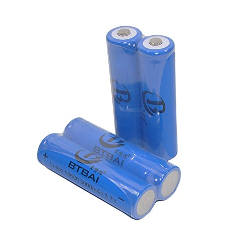 Amazon.es - 4pcs 18650 Trustfire 3000 mAh .37 V Rechargeable Lithium Batteries