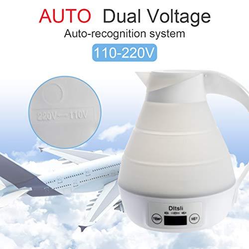 Esposizione di LED del bollitore elettrico di viaggio pieghevole portatile del silicone Controllo preciso della temperatura per acqua calda Caldaia del caffè del latte dell\'acqua