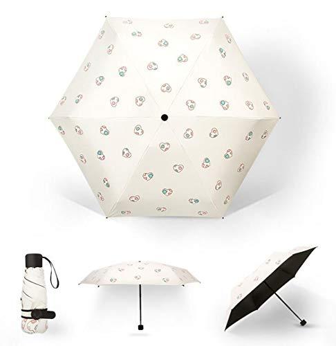 Damen Sonnenschutz Schirme, Windstille, Mini-Sonnenschirme Und Sonnenschirme Ultra Light Sonnenschirm Sind Für Damen Geeignet,Beige