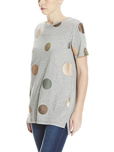 Bench Foil Dots Tee, T-Shirt Donna Grigio (Winter Grey Marl Ma1054)
