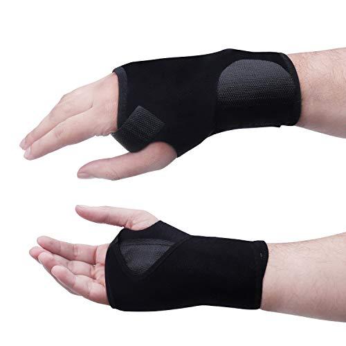 Handgelenkbandage (1 Paar) Handgelenkschiene mit schiene bandage für schmerzlinderung Karpaltunnelsyndrom, Verstauchungen, Sehnenscheidenentzündung und handgelenk Arthritis -