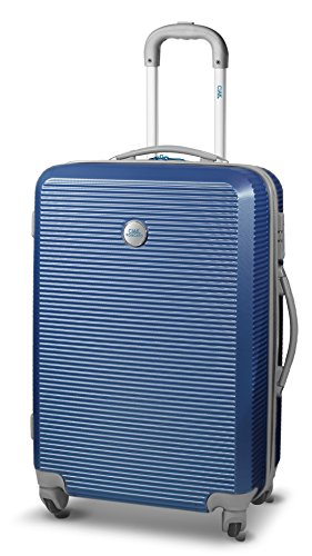 Trolley-valigia, Lounge II V. Ciak Roncato, 77x 54x 30cm, 106liter, 4,2kg-TSA, Ital. Design, Blu navy