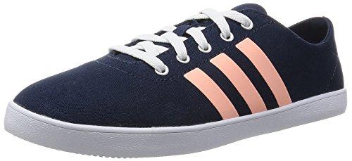 adidas Damen Qt Vulc Vs W Turnschuhe Schwarz / Silber (Maruni / Nadecl / Plamat)