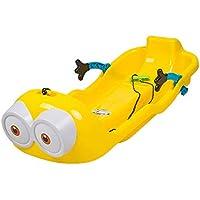 JFJL Trineo De Nieve Al Aire Libre En Trineo De Invierno En Pendiente/Platillo Volante Flexible, Trineo para Bebé Niño Y Niño Pequeño con 2 Asas Y Cuerda De Tracción