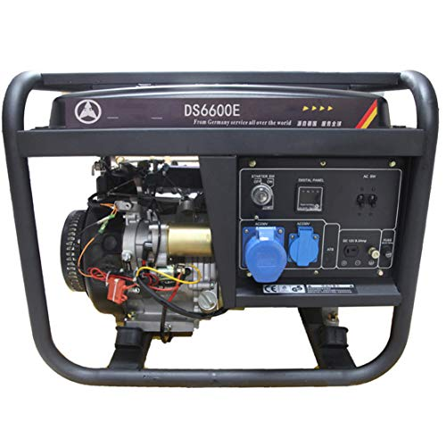HIOD Stromerzeuger Notstromaggregat Stromaggregat Stromgenerator Notfall Benzin-Generator 6000w 6kva 1 Phase mit 25L Kraftstofftank