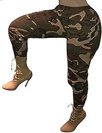 ITISME Jeanshosen Femmes Automne et Hiver Camo Cargo Casual Militaire ArméE Combat Camouflage Pantalon