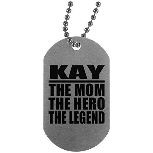 The Legend - Military Dog Tag Militär Hundemarke Silber Silberkette ID-Anhänger - Geschenk zum Geburtstag Jahrestag Muttertag Vatertag Ostern ()