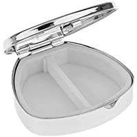 Sharplace Mini Reise Ovale Metall Pille Box Silber Pillenbox klein Pillendose Tablettenbox Medikamentenbox preisvergleich bei billige-tabletten.eu