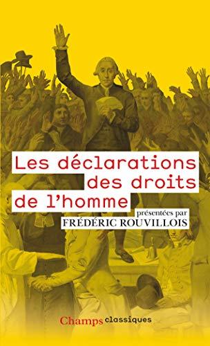 Les déclarations des droits de l'homme par Frederic Rouvillois