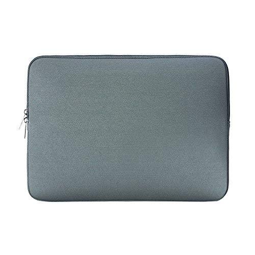 Rainyear 13.3 Zoll Schutz Weicher Neopren Notebook ärmel Fall Gepolsterte Tasche Slim Fit 13-13.3 Notebook Macbook Pro Tablette Ultrabook Von Apple Acer Asus Dell Lenovo Hp Samsung Sony Toshiba (Grau)