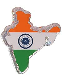 Dhwaj Indian Flag Coat Pin / Brooch / Badge For Clothing Accessories (Pack Of 12)- Indian Map National Flag Pin...