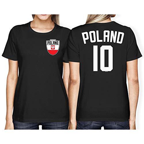 Kostüm Polen Land - TYML Heißer Mode Polen Fußballer Land Stolz Frauen T-Shirt T Shirt
