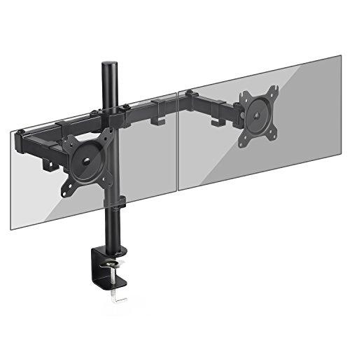 """SIMBR Monitor Halterung 2 Monitore, Monitor Tischhalterung Halterung mit Max VESA 100x100mm für Zwei 13\""""-27\"""" LCD LED Bildschirme mit Eine Max. Tragfähigkeit von 8kg"""