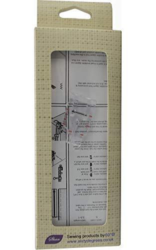 Nähfuß klares Design,  0,6cm Patchwork-Nähfuß  von 60° ® TM - Anleitung Necchi Nähmaschine