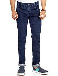 Par Excellence Men's Dark Blue Relaxed Fit Jeans