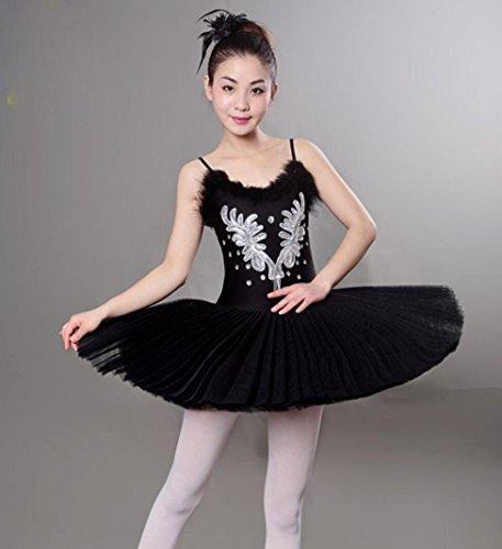für Kinder Ballett Kleid Ballett Praxis Kleidung Tanz Röcke Tanz Rock Tutu Little Swan Kostüm weiß/schwarz, black, xl (Black Swan Kostüme Für Kinder)