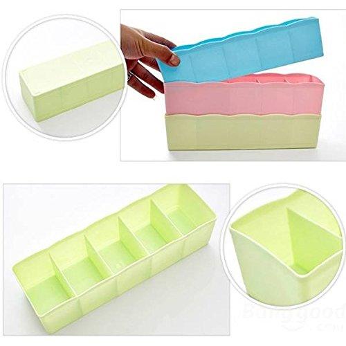Saver Colorato sovrapponibili Multiduty cassetti impilabili cinque griglie contenitore di biancheria intima di stoccaggio calze
