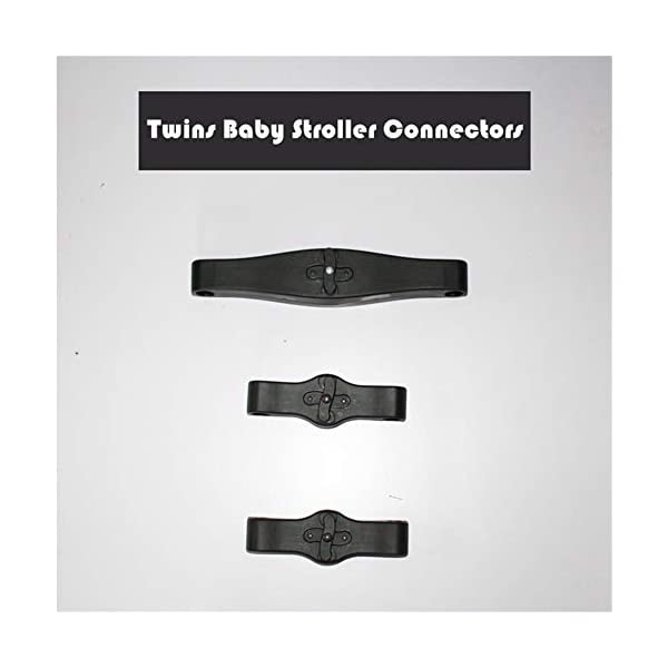 Twins Baby Stroller Connectors Accessories for YOYO Strollers 2-in-1 Dual Stroller Same Stroller  Material:PP Color:Black Weight:600g 1