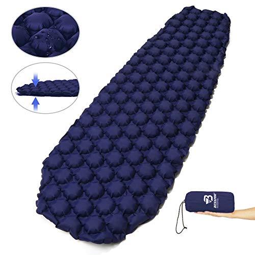 Bessport Isomatte Camping Schlafmatte, Isomatte Ultraleicht Kleines Packmaß. Aufblasbare Luftmatratze für Outdoor Camping, Reise,Trekking und Backpacking (Blue1)